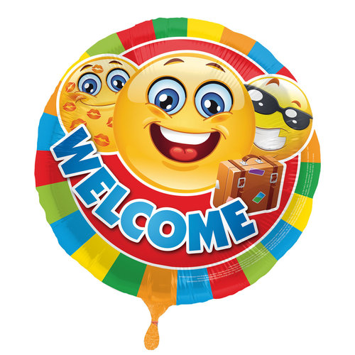 Ballon folie emoticon 'Welcome', 43cm