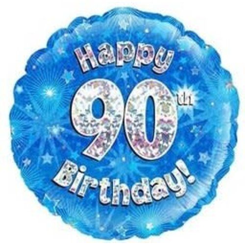 Folie ballon Happy 90th Birthday 45cm