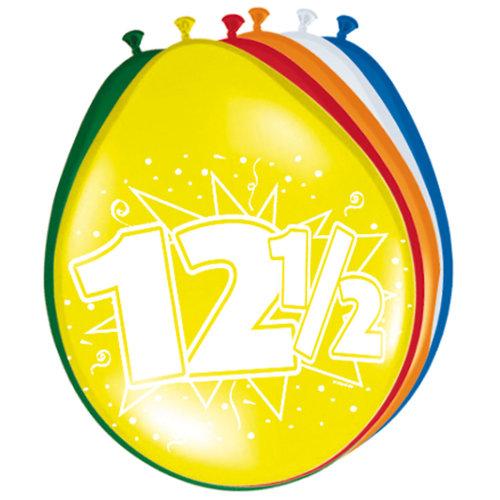 Ballons '12,5 jaar', 8st 30cm