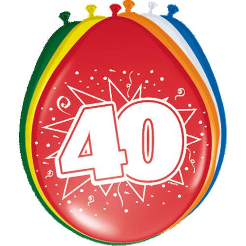 Ballons '40 jaar',30cm 8st