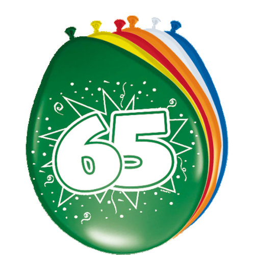 Ballons '65 jaar' 8 st
