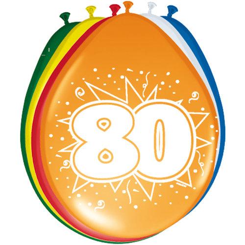 Ballons '80 jaar', 30cm