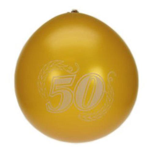 Ballons goudkleurig 50 jaar nr 10 27cm