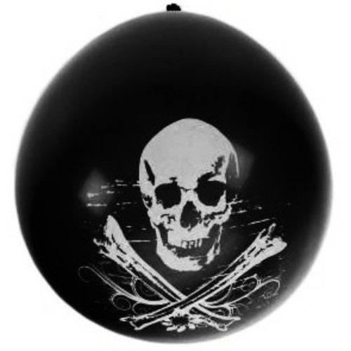 Ballons 8x doodhoofd piraat