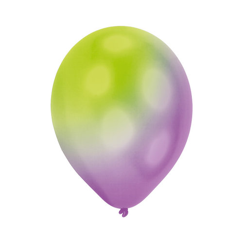 Ballonnen met veranderende led lichtjes, 27.5cm per 5 st