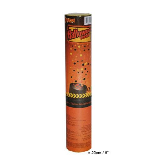 Confetti kanon 20cm Halloween zwart-oranje