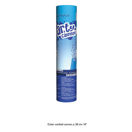 Confetti kanon 20cm, blauw