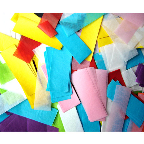 Confetti traagdalend vierkantig multicolor, 1kg