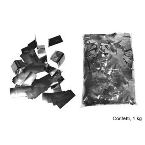 Confetti traagdalend vierkantig zilver, 1kg