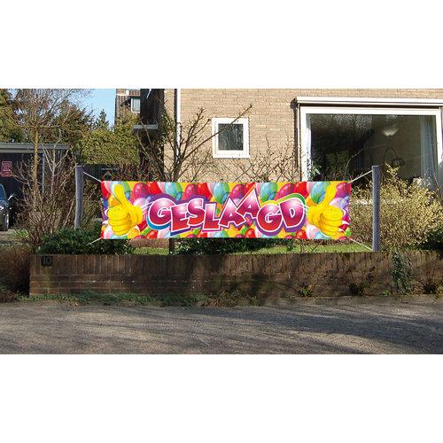 Banner 'Geslaagd' 40x180cm