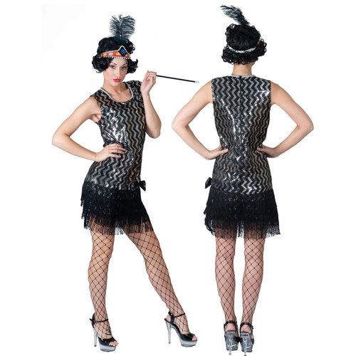 Funny Fashion Charleston zwart/zilver