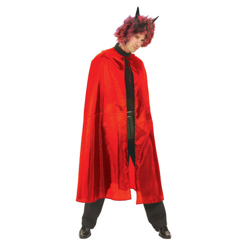 Funny Fashion Cape nylon rood volwassenen