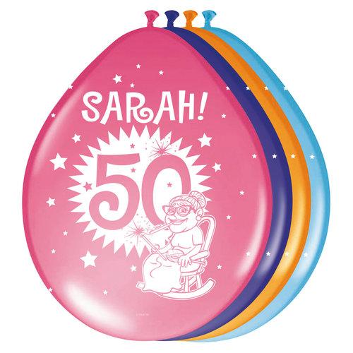 Ballons 'Sarah' per 8st. ass kl