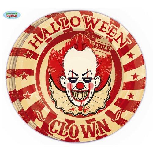 Borden 'Halloween Clown' per 8st