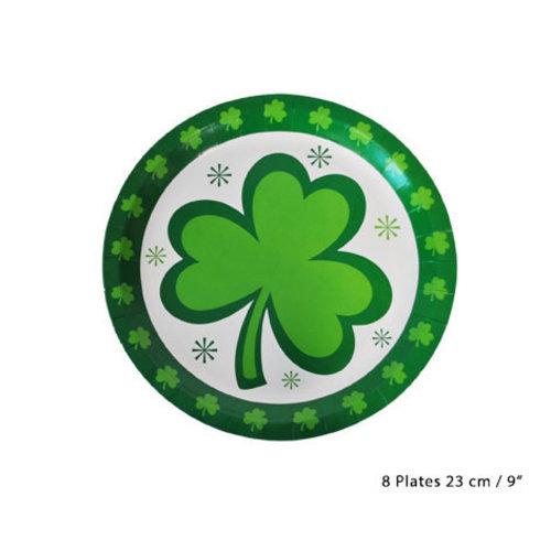 Bord 'St Patrick's Day' klavertje karton, per 8st