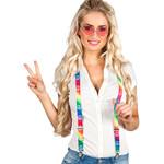 Bretellen 'Peace' regenboogkleuren