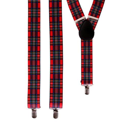 Bretellen 'Schotse ruit' 3.5cm breed