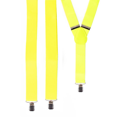 Bretellen fluo geel