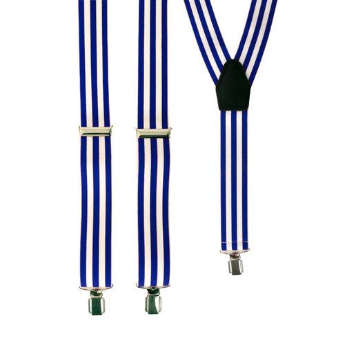 Bretellen gestreept wit/blauw