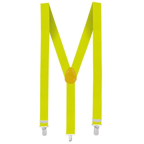 Bretellen neon geel
