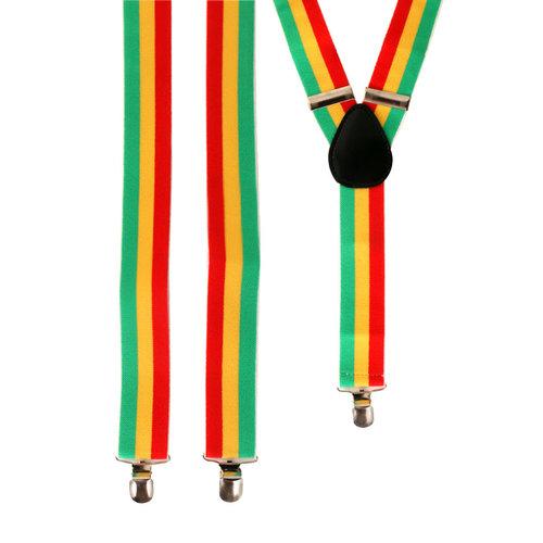 Bretellen rood/geel/groen
