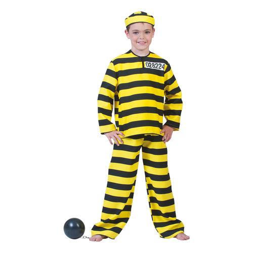 Funny Fashion Boef Dalton geel zwart kind