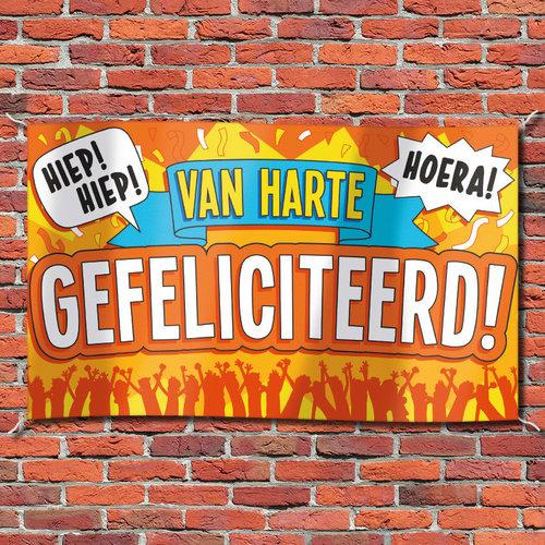 Gevelvlag 'Van Harte Gefeliciteerd!' 90x150cm