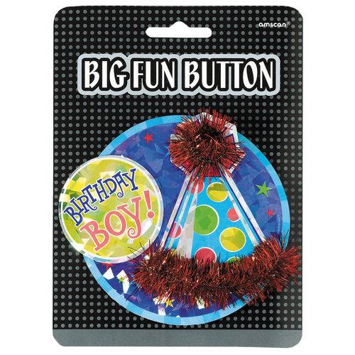 3D Button 'Birthday Boy'