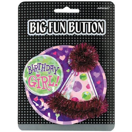 3D Button 'Bitrhday Girl'