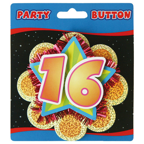 3D Button 16 jaar