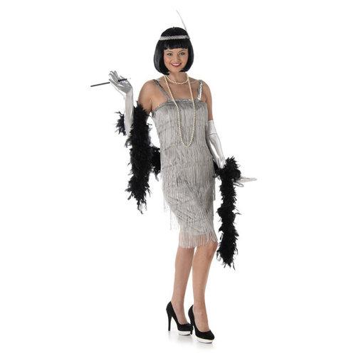 Charleston Flapper dress zilver