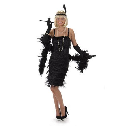 Charleston Flapper dress zwart