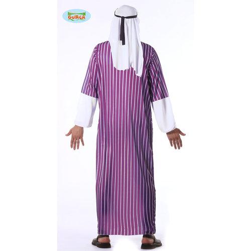 Fiestas Guirca Arabier kostuum paars/wit