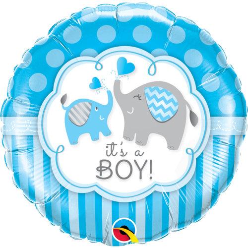 Folat Folie ballon geboorte 'It's A Boy!' 45cm