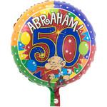 Folat 50 Jaar Abraham Knalfeest folieballon 43cm