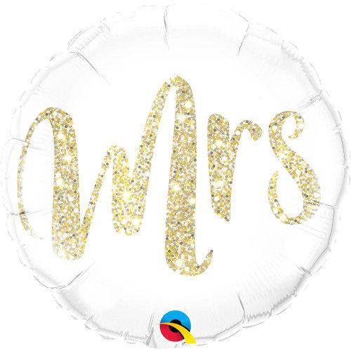 Folat Folie ballon Bruiloft Mrs. 46cm