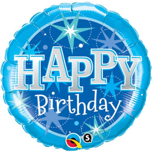 Folat Blauwe Birthday Folieballon 46cm