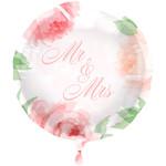 Folat Folie ballon Bruiloft Rozen  45cm