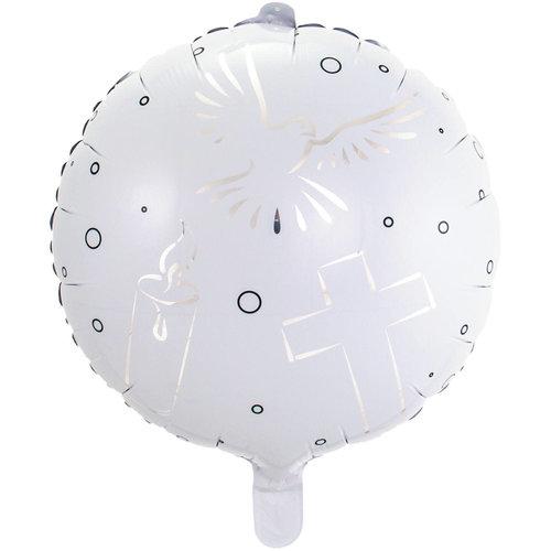 Folat Folie ballon Communie Wit 43cm