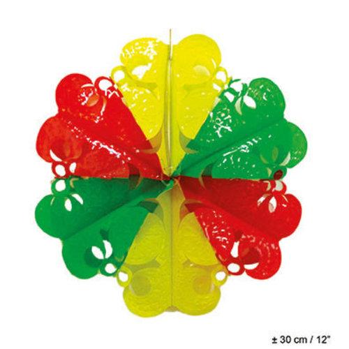 Deco hanger rood/geel/groen, 30cm