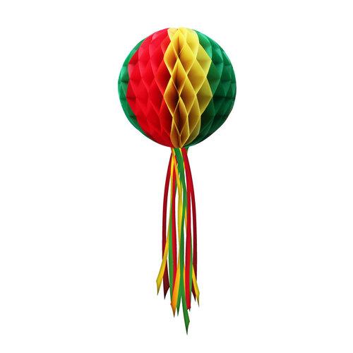 Decoratie Bol rood/geel/groen ø 50 cm Moeilijk brandbaar