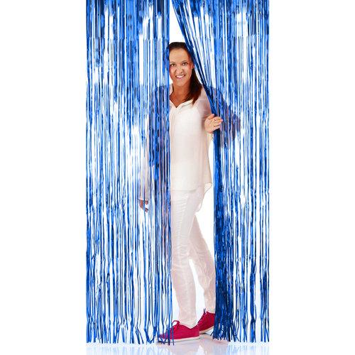 Folat Deur gordijn folie blauw 2x1m