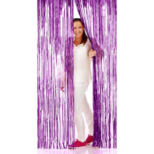 Folat Deur gordijn folie paars 2x1m