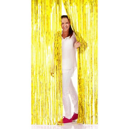 Folat Deur gordijn folie goud 2x1m