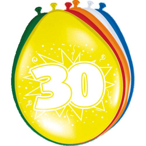 Folat Ballon 30cm 30 Jaar 8st
