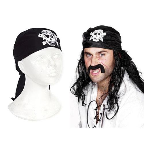 Funny Fashion Bandana Piraat zwart
