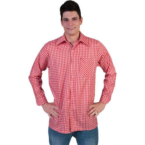 Funny Fashion Cowboy/Tiroler hemd geruit rood/wit