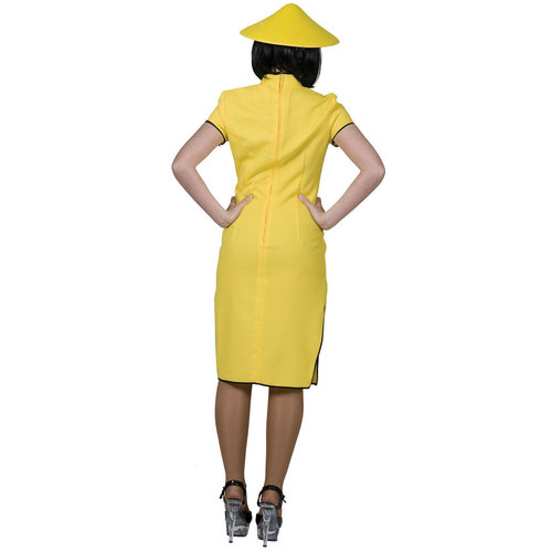 Funny Fashion Chinese dame geel