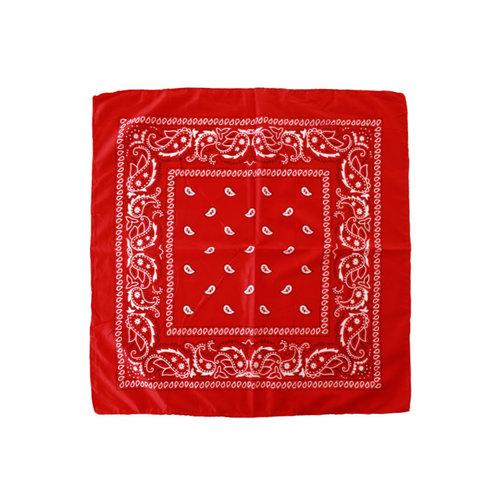 Zakdoek/bandana paisley print rood