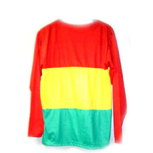 Funny Fashion T-shirt rood/geel/groen lange mouw